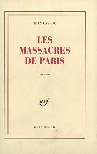 9782070212699: Les Massacres de Paris