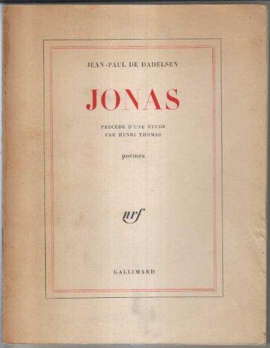 9782070217328: Jonas : une étude par Henri Thomas