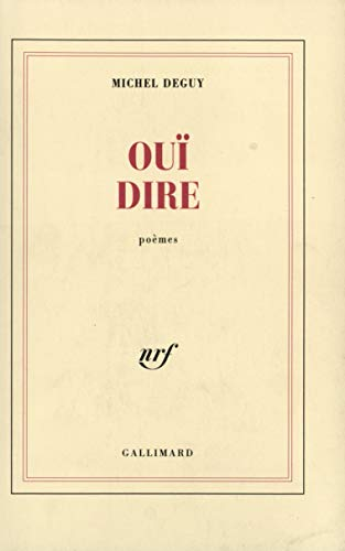9782070218172: Oui-dire (French Edition)