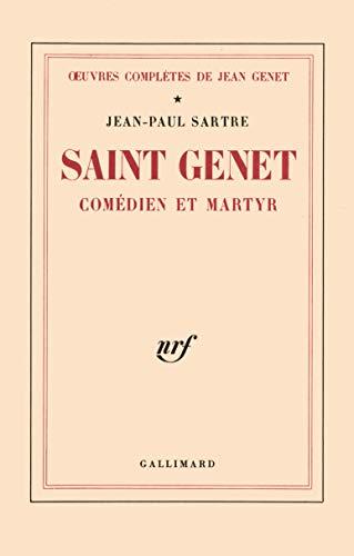 Saint Genet comédien et martyr (Oeuvres complètes: Jean-Paul Sartre