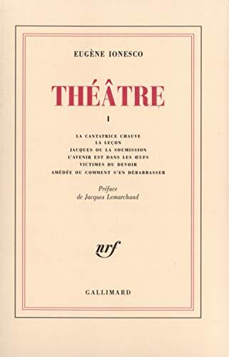 Théâtre, tome 1: Ionesco, Eugène