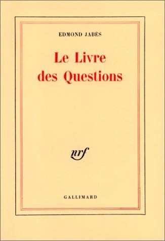 9782070233243: LE LIVRE DES QUESTIONS