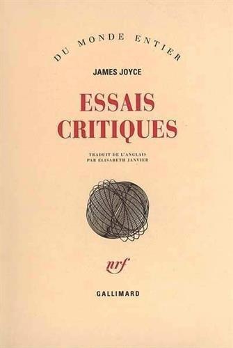 Essais critiques: Joyce, James