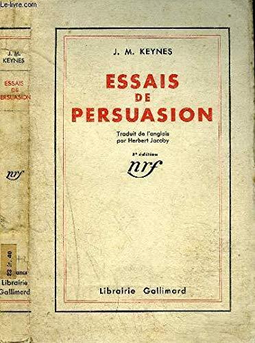 9782070235926: ESSAIS DE PERSUASION