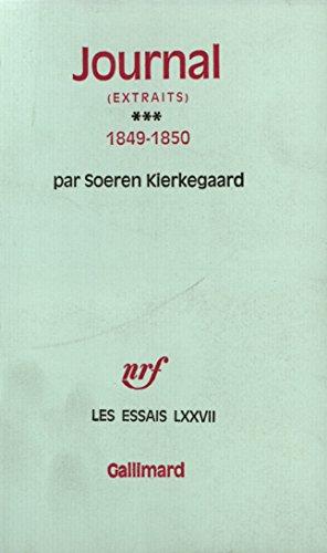 9782070236046: Journal - extraits - Tome III 1849-1850