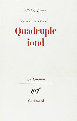 9782070239542: Quadruple fond (French Edition)