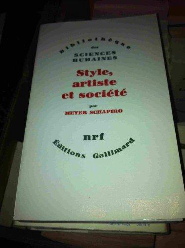 9782070241576: Style, artiste et societe