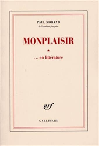 9782070246151: Monplaisir... en littérature