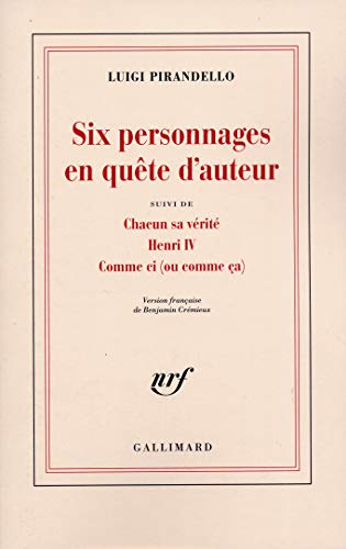 Theatre t1 (French Edition): Luigi Pirandello
