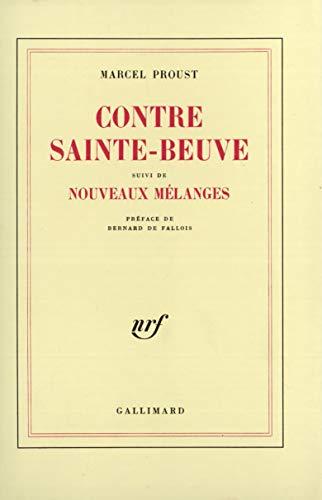 9782070252831: Contre Ste-Beuve nouv