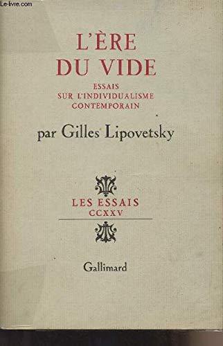 L'ère du vide: Lipovetsky, Gilles
