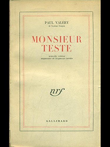 Monsieur Teste.: Valery, Paul