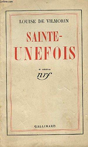 9782070265367: Sainte-Unefois