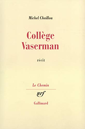 9782070268955: College vaserman (French Edition)