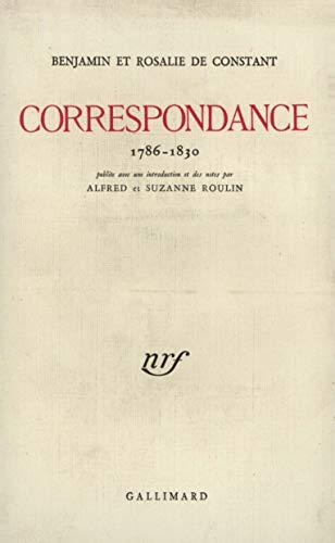 9782070269204: Correspondance 1786-1830