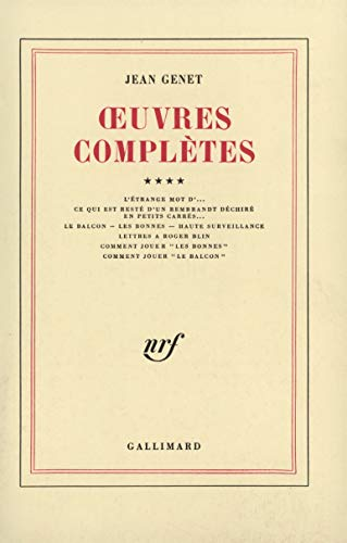 OEUVRES COMPLETES VOL.4 - GENET J.