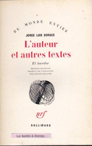 9782070277643: L'Auteur et autres textes