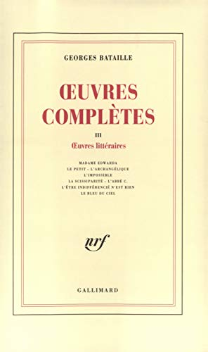 9782070278053: Oeuvres complètes, tome 3