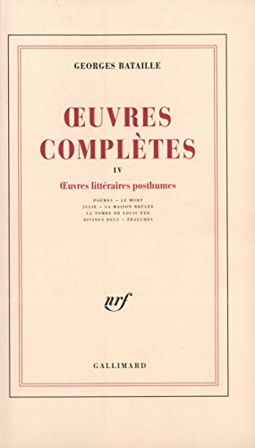 Oeuvres complètes, tome 4: Bataille, Georges