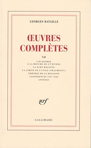 9782070278824: Oeuvres Completes: v.7 (Vol 7) (French Edition)