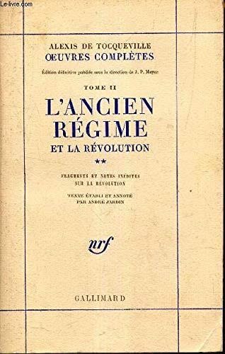 9782070279609: L'Ancien Régime et la Révolution