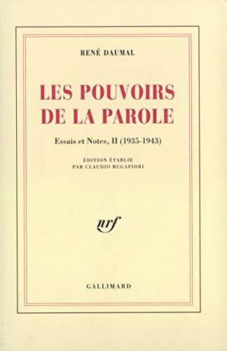 9782070280629: Les Pouvoirs de la parole - Essais et notes 2
