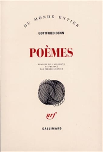 Poemes (French Edition): Gottfried Benn
