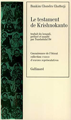 9782070283675: Le Testament de Krishnokanto