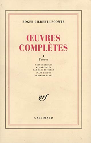 9782070285587: Oeuvre complètes, tome 1