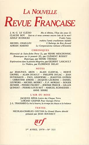 9782070286607: La N.R.F., numéro 315, avril 1979
