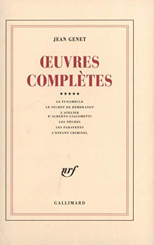 9782070286713: Oeuvres complètes, tome 5 : Le Funambule et autres récits