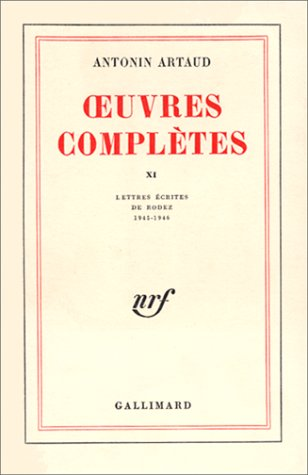 Oeuvres completes t11 (French Edition): A. ARTAUD