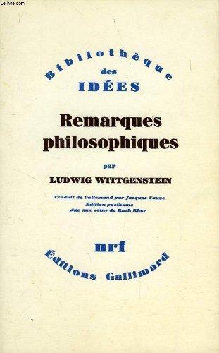 9782070291748: Remarques philosophiques (Bib Idees)