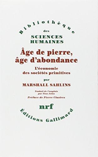 9782070292851: Âge de pierre, âge d'abondance: Economie des sociétés primitives