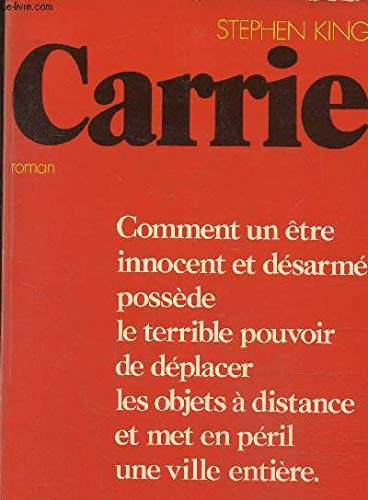 CARRIE (FRENCH): King, Stephen