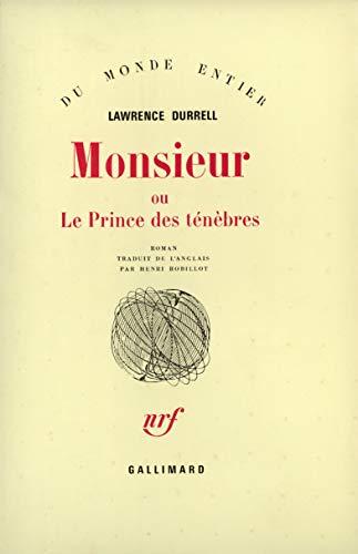 9782070295159: Monsieur ou le Prince des Ténèbres