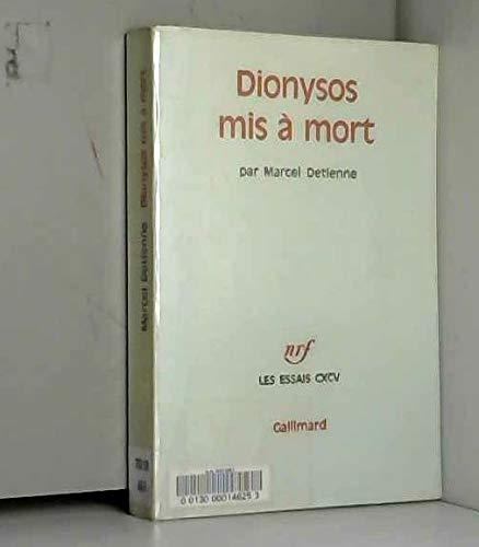 9782070295692: Dionysos mis à mort