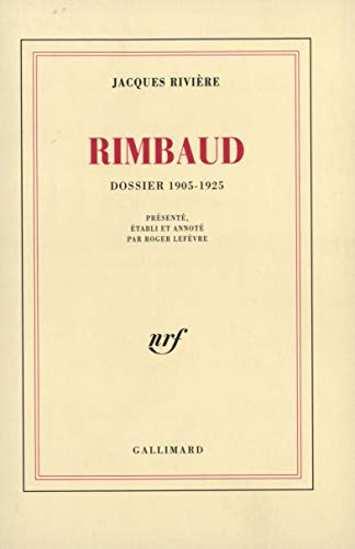Rimbaud (dossier 1905-1925) (French Edition) (2070296342) by [???]