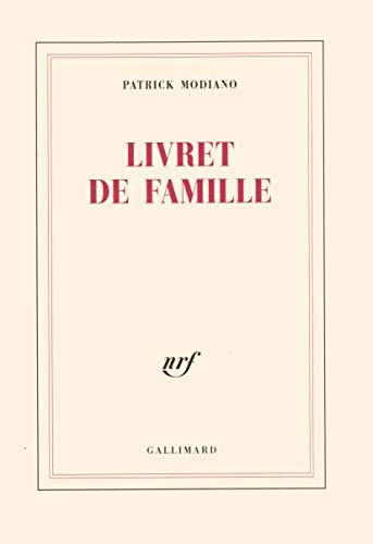 Livret de famille [Paperback] [Apr 15, 1977]: Patrick Modiano