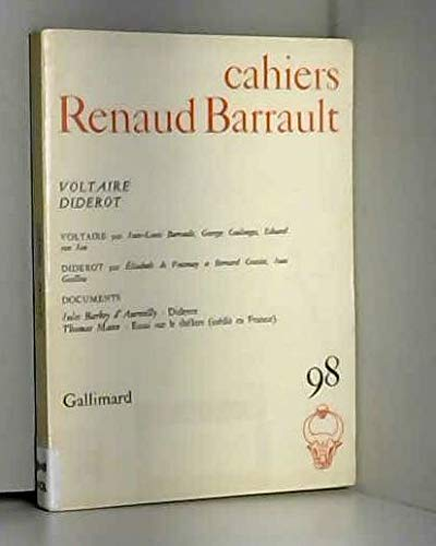 9782070298167: Cahiers renaud-barrault 98 (voltaire - diderot)