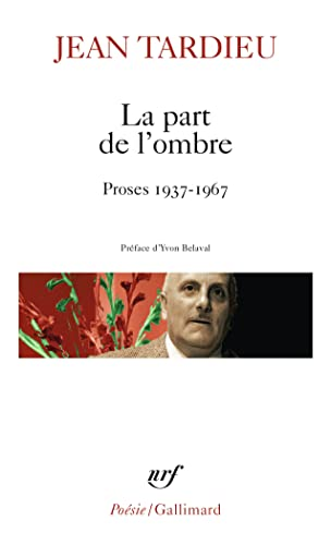 9782070318742: Part de L Ombre (Poesie/Gallimard) (French Edition)