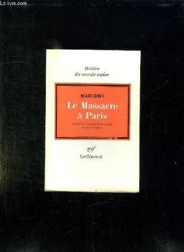 9782070319787: Le Massacre a Paris
