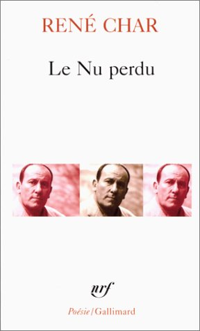 9782070321780: NU Perdu Et Autre Poem (Collection Pobesie) (English and French Edition)