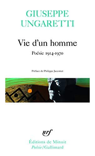 Stock image for Vie d'un homme. Poésie, 1914-1970 for sale by medimops