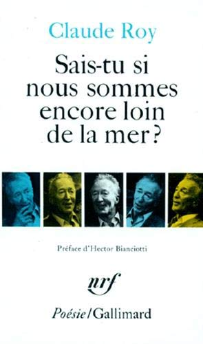 9782070322411: Sais Tu Si Nous Sommes (Poesie/Gallimard) (English and French Edition)