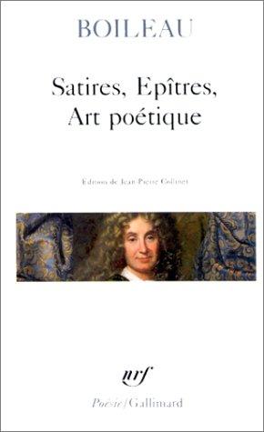 9782070322930: Satires - Épîtres - Art poétique