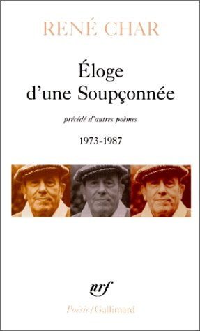 9782070325313: Eloge D'Une Soup Fenet (Poesie/Gallimard) (English and French Edition)