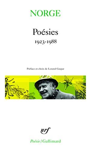 POÉSIES 1923-1988: NORGE MARIE