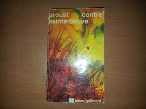9782070350810: Contre Sainte-Beuve