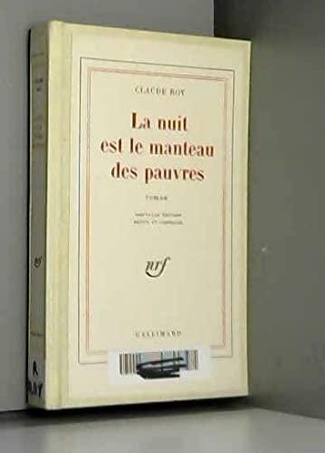9782070367221: La Nuit est le manteau des pauvres (Folio)